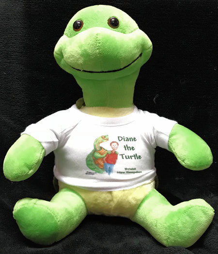 Plush Diane the Turtle with T-shirt