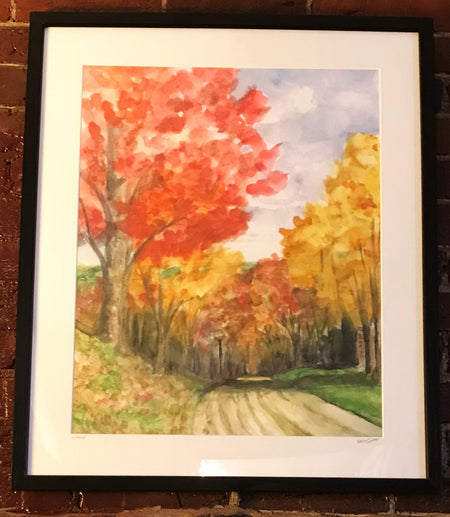 "Limited Edition Print Fall Road"" by Brad Tonner"