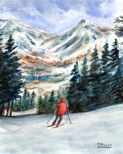 Downhill Skier Note Cards