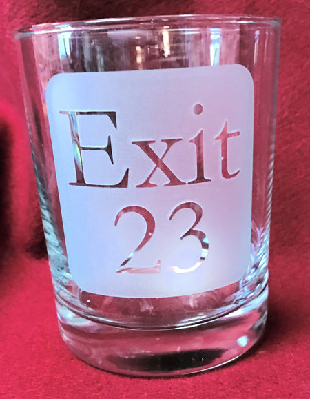 Exit 23 New Hampshire 14oz High Ball Glass