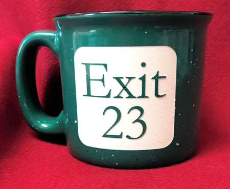 Exit 23 New Hampshire 12oz Green Mug