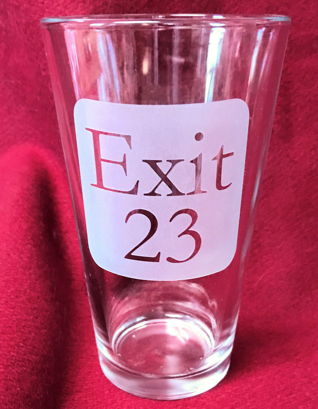 Exit 23 New Hampshire 16oz Pilsner Glass