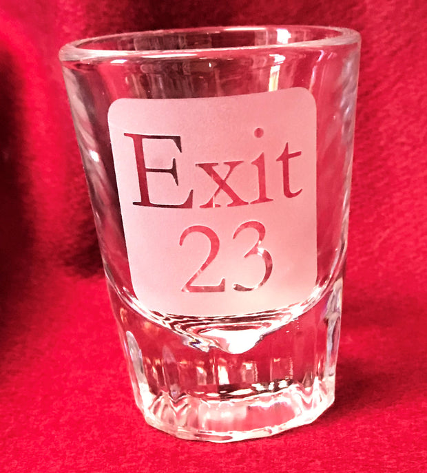 Exit 23 New Hampshire Shot Glass