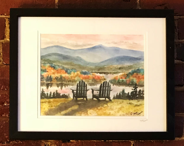 "Framed Print ""Adirondack Sunset"" by Brad Tonner"