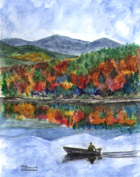 Fall Afternoon on the Lake Note Cards