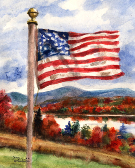 Fall Flag Note Cards