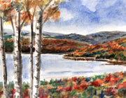 Fall Lake Note Cards