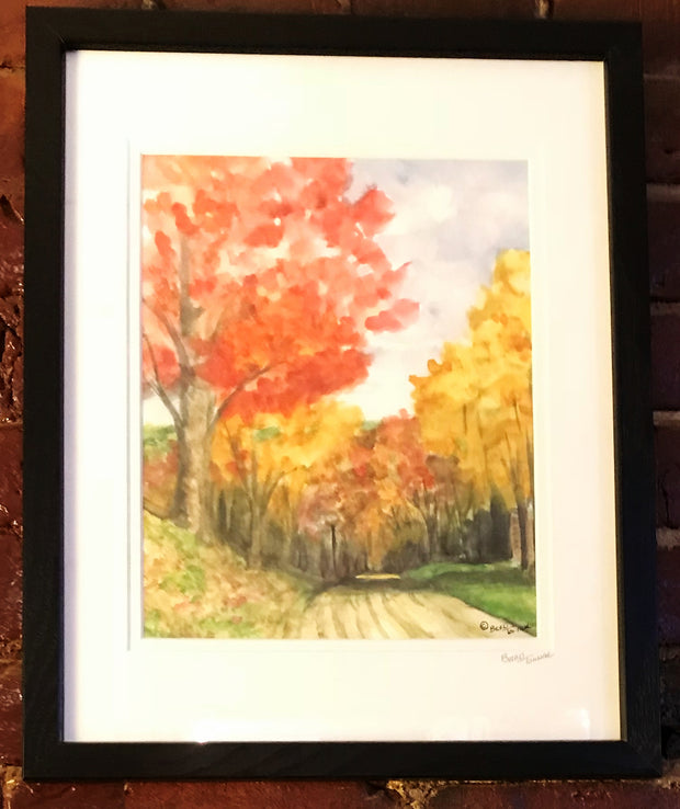 "Framed Print ""Fall Road"" by Brad Tonner"