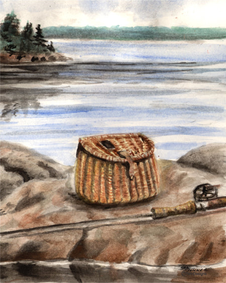 Fishing Basket Note Cards