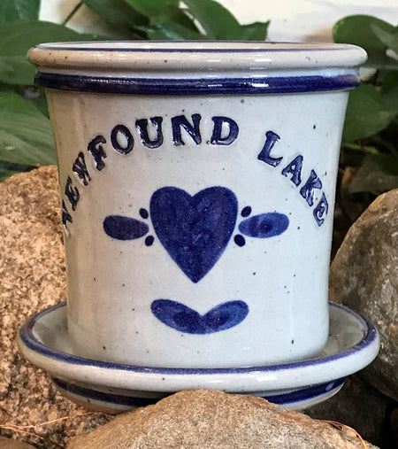 Grandville Hollow Pottery Newfound Lake Flower Pot