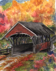 The Flume Covered Bridge Note Cards