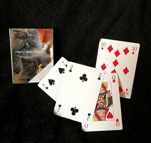 Harry and Grace the Cats Playing Cards
