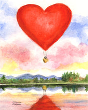 Heart Balloon Note Cards
