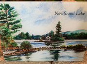 Loon Island Newfound Lake Glass Cutting Board