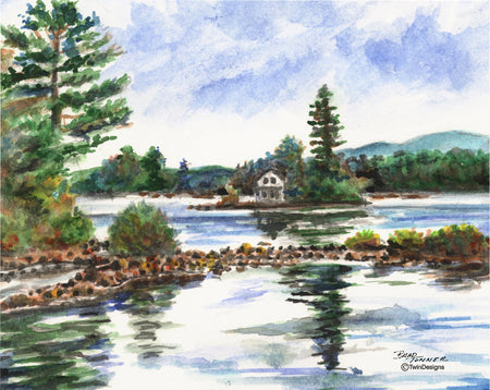 Loon Island Newfound Lake Note Cards
