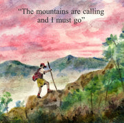 """Mountains are Calling""  Ceramic Tile Trivet"