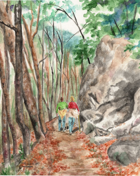 Hiking the Trail Note Cards