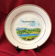"""Iconic Newfound Lake"" 8""  China Plate featuring an original watercolor by Brad Tonner"