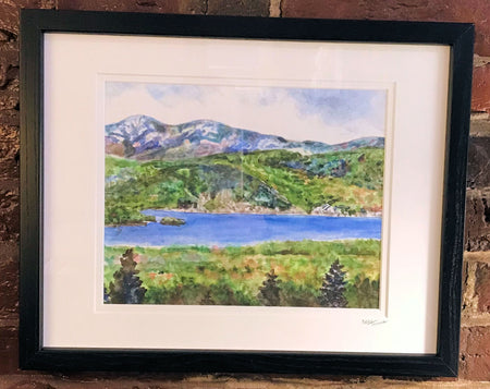 """Iconic Newfound Lake"" Framed Print by Brad Tonner"