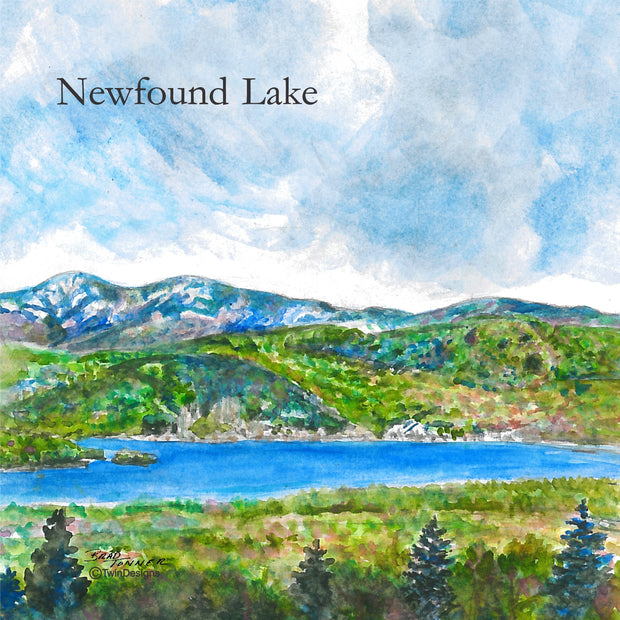 """Iconic Newfound Lake"" Ceramic Tile Trivet"