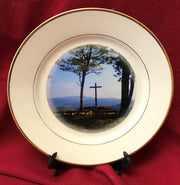 """Inspiration Point"" 8""  China Plate featuring an original photograph by Jim Tonner"
