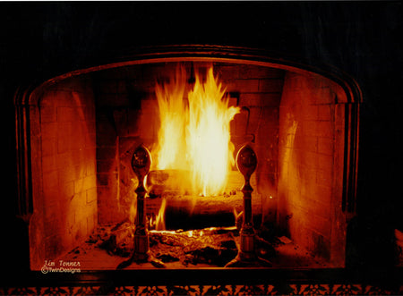 """Christmas Eve by the Fire"" Boxed Christmas Cards Original Photograph by Jim Tonner"