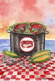 """Crab Bake"" Note Cards Original Watercolor by Brad Tonner"