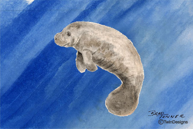 """Manatee"" Note Cards Original Watercolor by Brad Tonner"