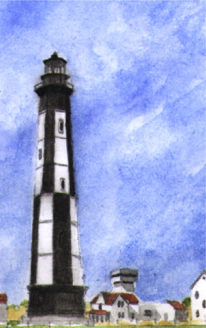 """Cape Henry Lighthouse Virginia"" Boxed Note Cards Original Watercolor by Brad Tonner"