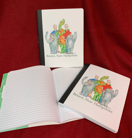 TwinDesigns Logo Composition Book   Featuring an Original Watercolor by Brad Tonner.