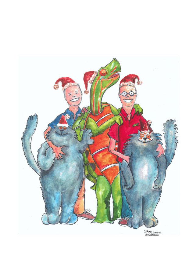 """Merry Christmas from TwinDesigns"" Boxed Christmas Cards Original Watercolor Brad Tonner"