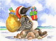 """Loon Christmas"" Boxed Christmas Cards Original Watercolor Brad Tonner"