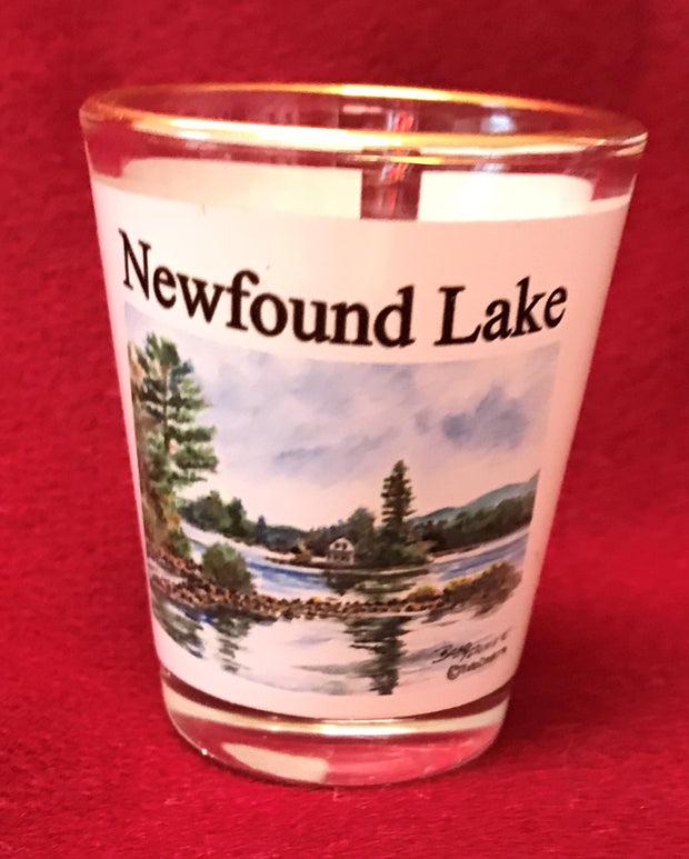 Loon Island Newfound Lake Shot Glass