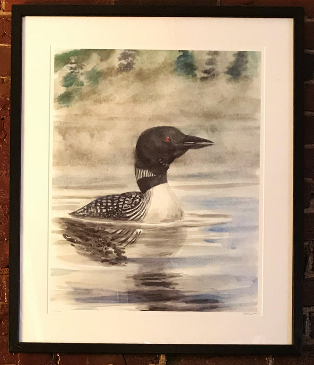 "Limited Edition Framed Print ""Early Morning Loon"" by Brad Tonner"