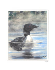 "Matted Print ""Loon"" by Brad Tonner"