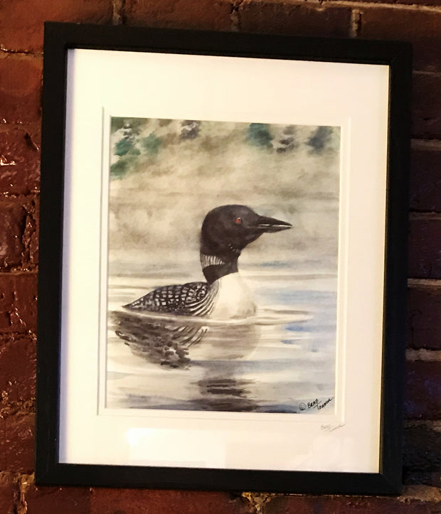 "Frame Print ""Early Morning Loon"" by Brad Tonner"