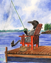 Loon Fishing Note Cards