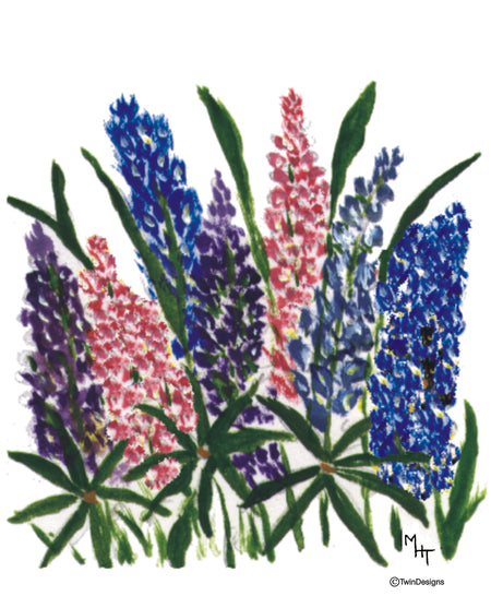 Lupine Note Cards