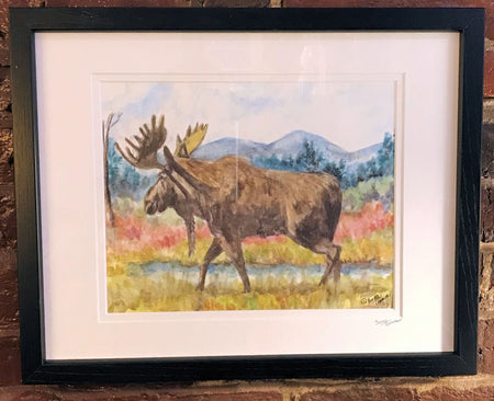 """Moose"" Framed Print by Brad Tonner"