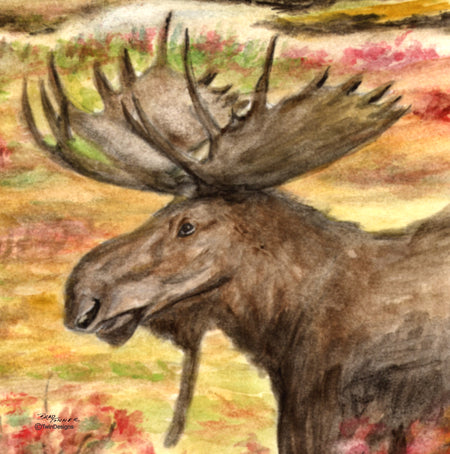 """Moose"" Ceramic Tile Trivet"