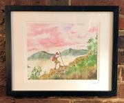 """Mountain Hiker"" Framed Print by Brad Tonner"