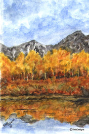 """Colorado Aspens"" Note Cards Original Watercolor by Brad Tonner"