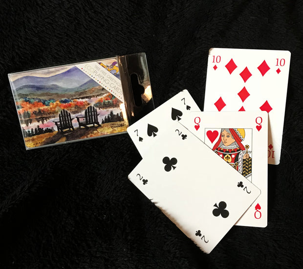 Adirondack Chairs in the Fall Playing Cards