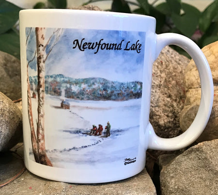 Newfound Lake Ice Fishing Mug