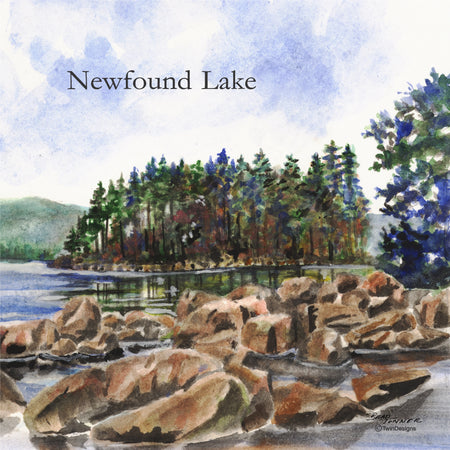 """Newfound Lake"" Ceramic Tile Trivet"