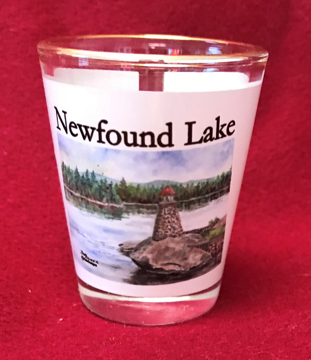 Newfound Lake Lighthouse Shot Glass