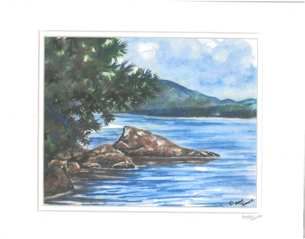 "Matted Print ""Newfound Lake"" by Brad Tonner"