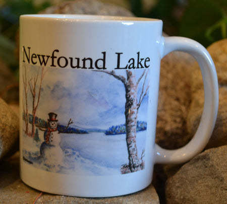 Snowman on Newfound Lake Mug