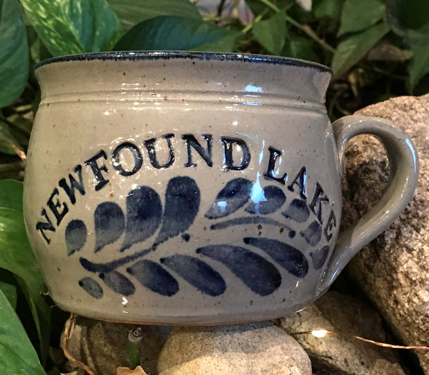 Westerwald Pottery Newfound Lake Stoneware Soup Mug.
