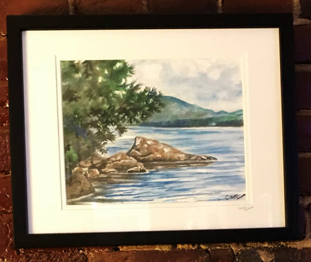 "Framed Print ""Newfound Lake"" by Brad Tonner"